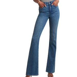 Express High Rise Wide Flare Medium Wash Jeans